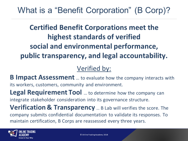 B-Corp meets the highest standards of verified social and environmental performance, public transparency, and legal accountability.