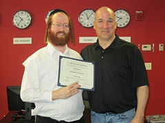 Student Aaron Kaufman with Instructor Chris Manson