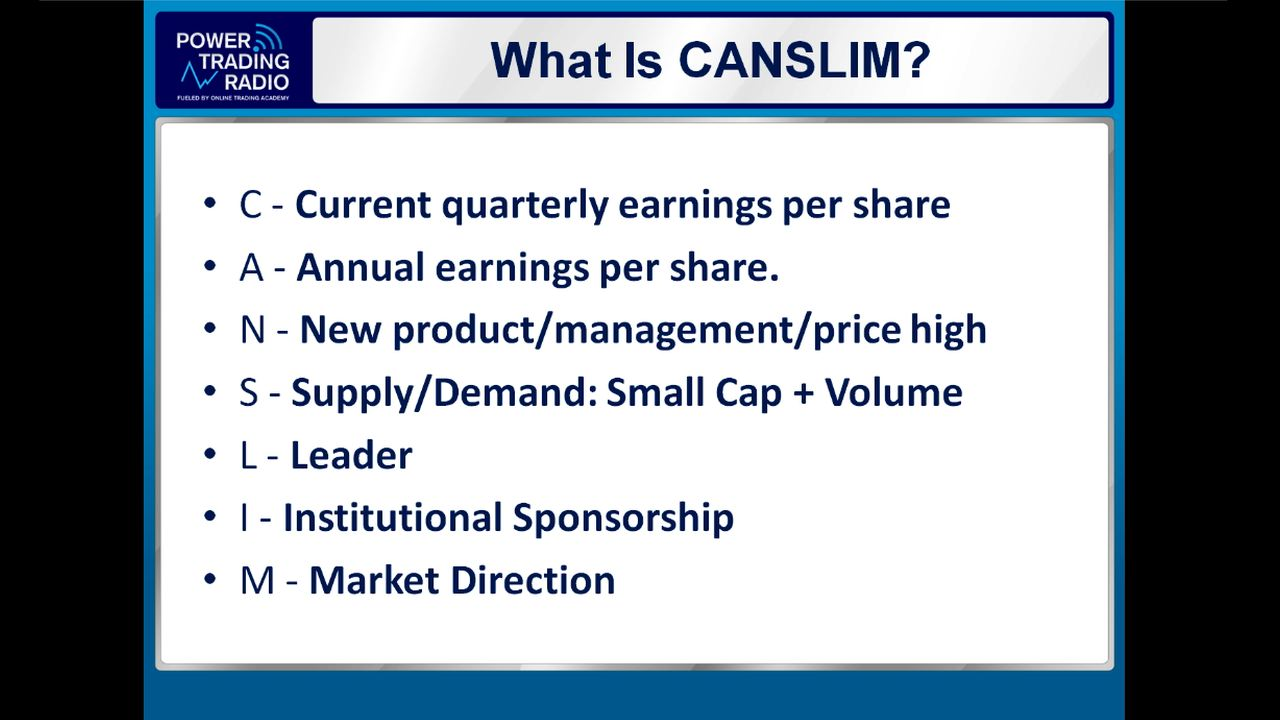 Canslim stock trading system